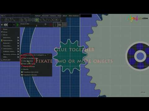 Algodoo - Tutorial - Gears and collision groups