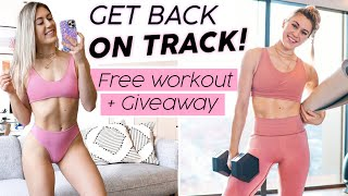 Get BACK on TRACK + Crush Your Fitness GOALS! Giveaway + Free Workout!