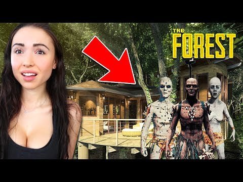 OUR NEW BASE!! *TRYING TO SURVIVE* (The Forest)