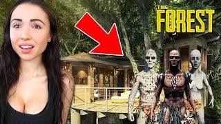 OUR NEW BASE!! *TRYING TO SURVIVE* (The Forest) thumbnail