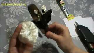 Цветы из ткани. Мастер класс Крученая роза. Часть 3 (handmade)