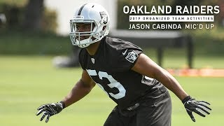 Mic'd Up: LB Jason Cabinda at 2019 OTAs | Raiders