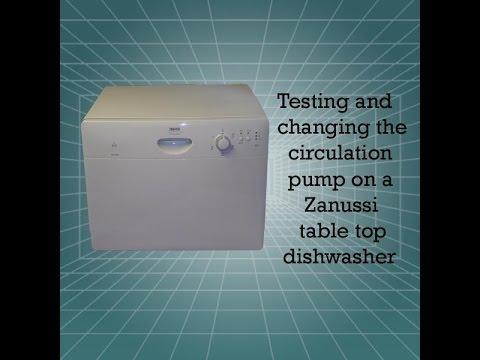 zanussi table top dishwasher circulation pump youtube. Black Bedroom Furniture Sets. Home Design Ideas