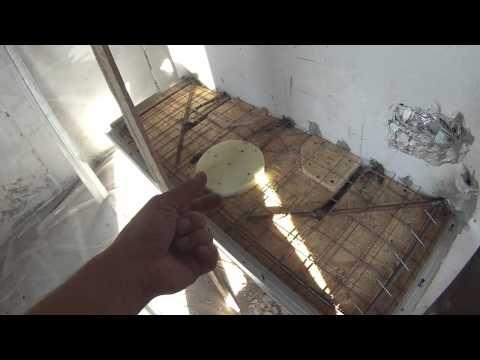 Столешница раковины из раствора под облицовку