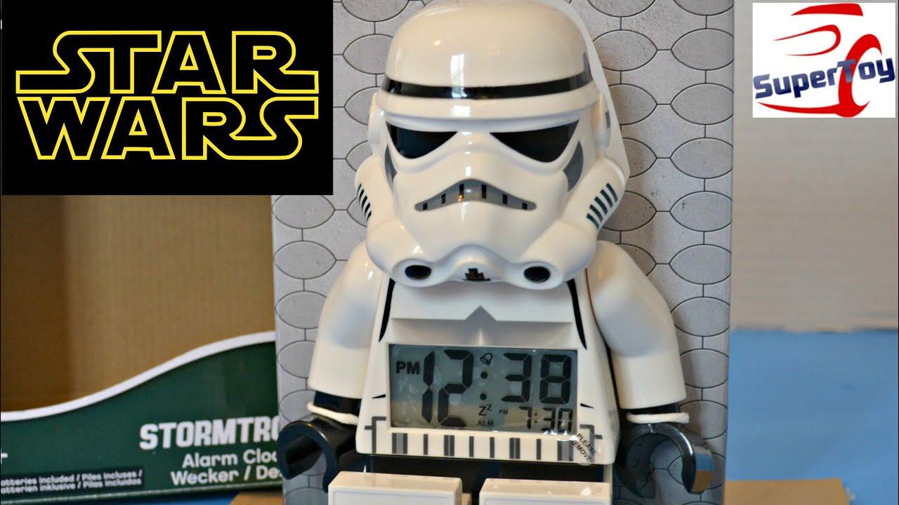 Star Wars Lego Stormtrooper Figurine Alarm Clock Youtube