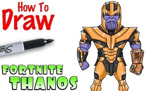 How to Draw Thanos in Fortnite