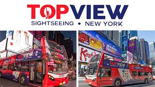 New York City -Manhattan Bus Tour Around Lower End - TOP VIEW BUS