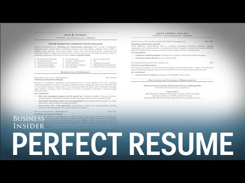 A résumé expert reveals what a perfect résumé looks like
