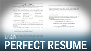 A CV expert reveals what a perfect CV looks like