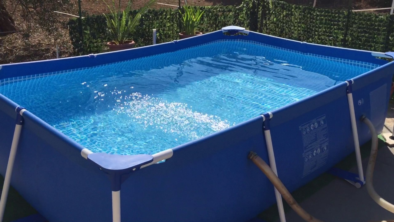 piscina intex 3mx2m youtube