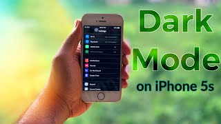 How To Get DARK MODE(sort of) on iPhone 5s,6,6 Plus