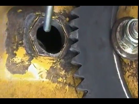 Replace the steering gear on a Cub Cadet - YouTube
