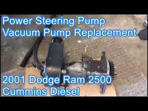Power Steering And Vacuum Pump Repair Pt1 2001 Dodge Ram 2500 Cummins Diesel Youtube