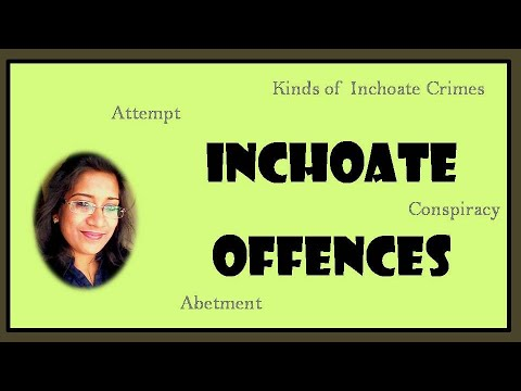 INCHOATE CRIMES| ATTEMPT|