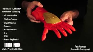 3D Printed IRON MAN Super Hero Child Prosthetic Hand