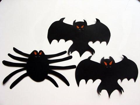 Manualidades para halloween m vil de murci lagos - Decoracion halloween para imprimir ...