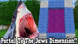 Minecraft How To Make A Portal To The Jaws Dimension - Killer Shark Dimension Showcase!!!