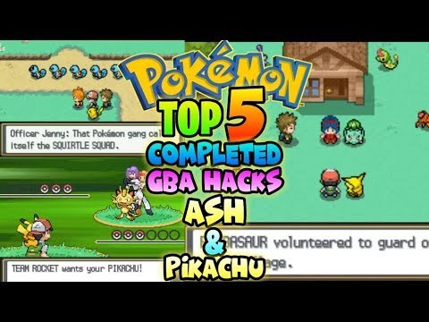 Top 5 Completed Pokemon GBA ROM Hacks With Ash & Pikachu |Gameplay+Download|
