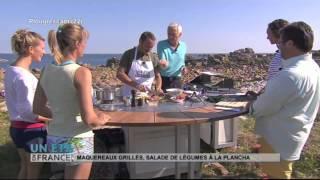 RECETTE : Maquereaux grillés, salade de légumes à la plancha