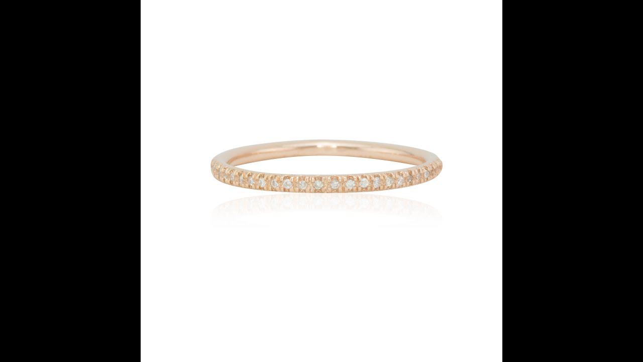 grain rounded round gold diamond white wedding ring set product