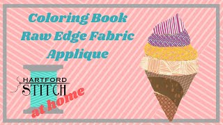 Coloring Book Raw Edge Applique