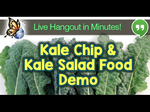 Live Kale Chip & Kale Salad Demo!