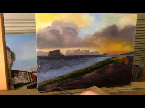 Serenity Oil painting by Janet Garcia – Part 02 in Real Time
