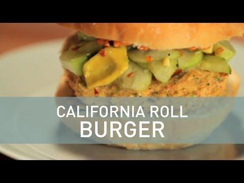 California Roll Burger Food Deconstructed