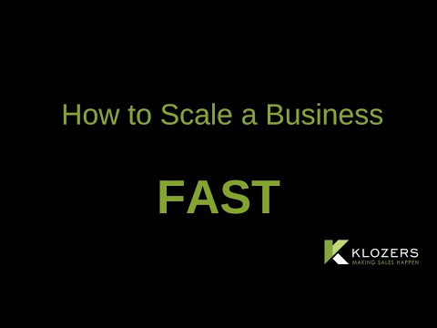 How to Scale a Business Fast