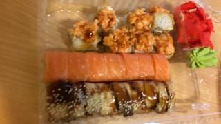 Видео обжор роллов  Фуджи суши самара