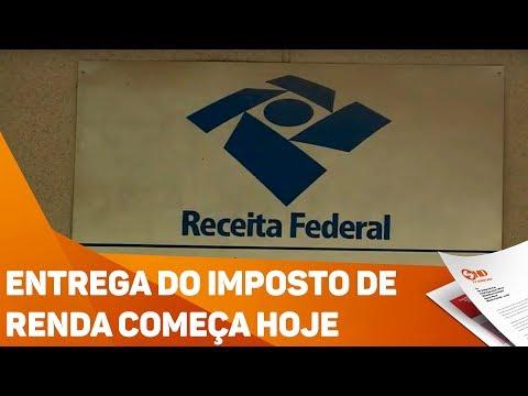 Entrega do imposto de renda começa hoje - TV SOROCABA/SBT
