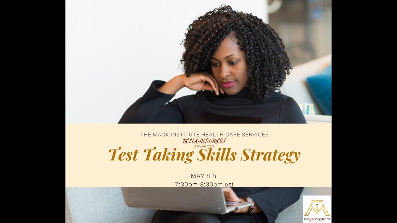 Advanced Test Taking Strategy Webinar
