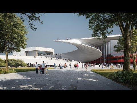Snøhetta To Build Shanghai Grand Opera House With Spiral Staircase Roof