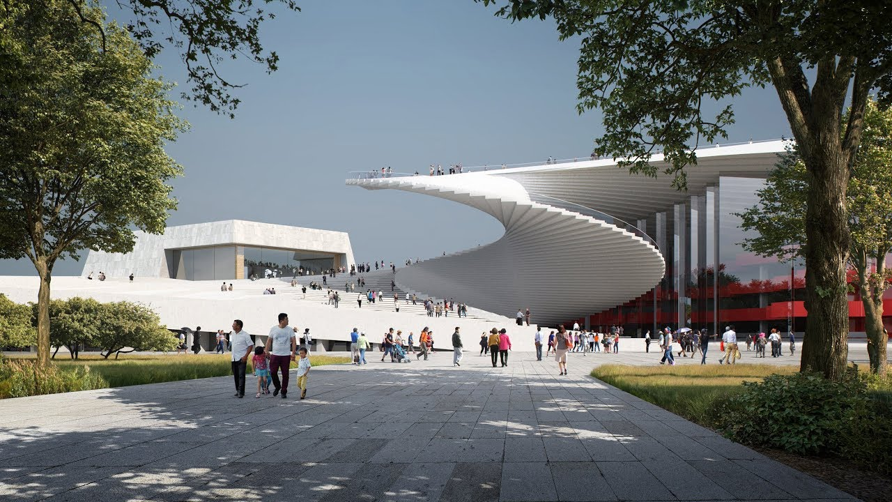 Snøhetta To Build Shanghai Grand Opera House With Spiral Cool Oslo Opera House Snohetta