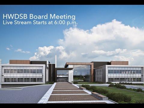 HWDSB Board Meeting - September 28, 2015