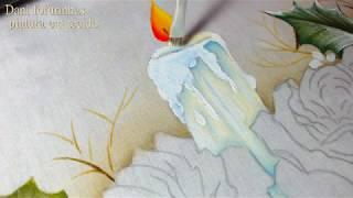Pintura em Tecido  – Como Pintar uma Vela de Natal