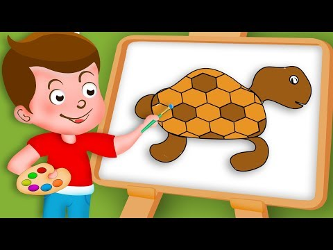 Drawing Tortoise Paint And Colouring For Kids | Kids Drawing TV