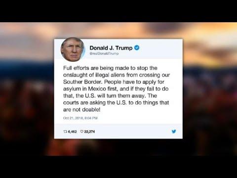 AFP news agency: Trump says 'full efforts' under way to stop migrant caravan