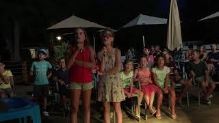 Flavie Hénouille et Marion camping les acacias Bellerive sur allier 16 août 2018