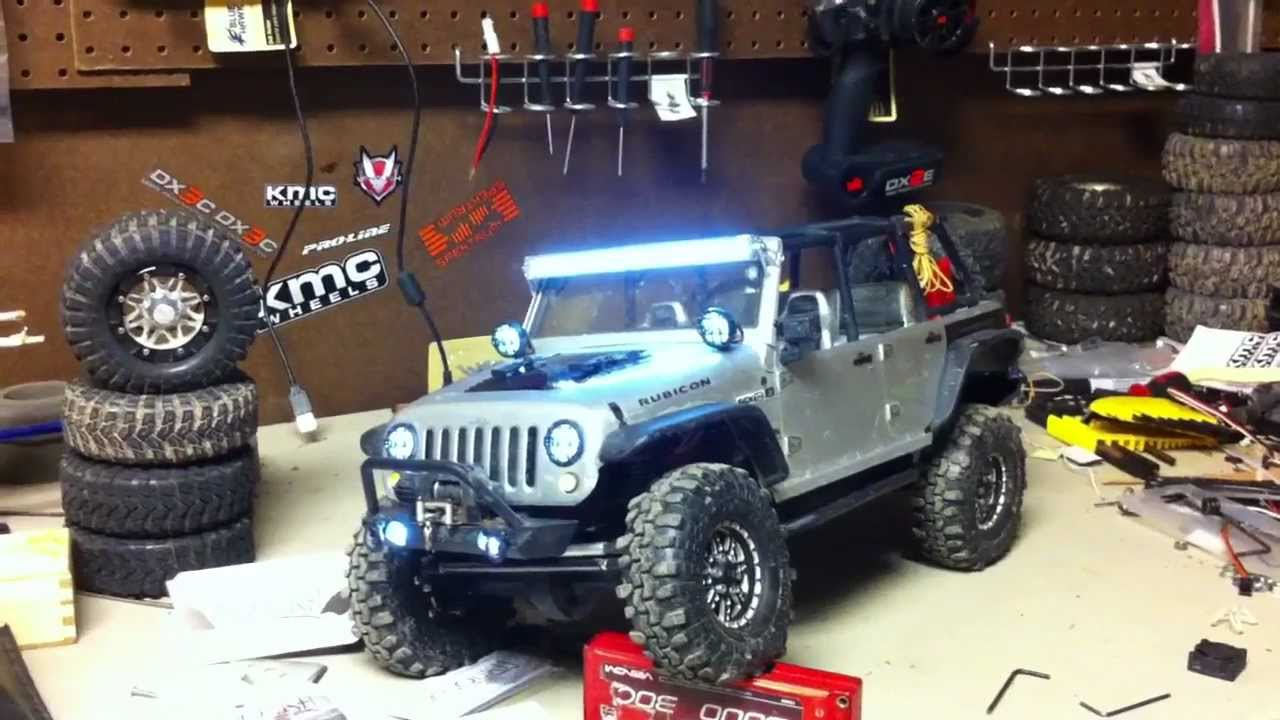 2012 SCX 10 Jeep Rubicon with 33 LED Light Kit and ...