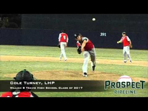 Cole Turney, LHP, William B Travis High School, Pitching Mechanics at 200 FPS