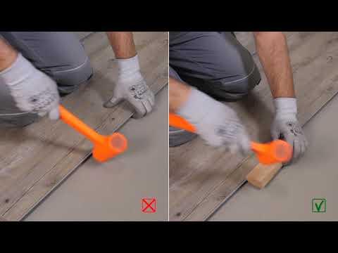 Gerflor Rigid 30 Lock Lame Pvc Clipsable Sur Carrelage Video De Pose Youtube