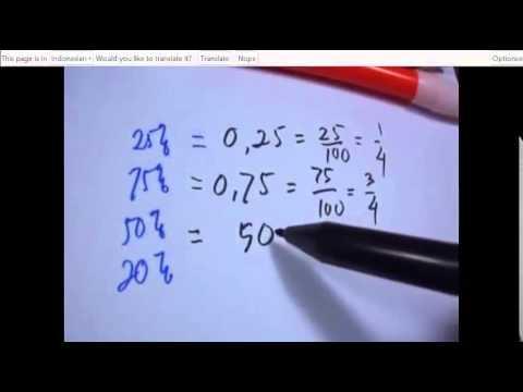Mengubah Pecahan Desimal dan Persen - Jurus 7 Detik Matematika Paman APIQ