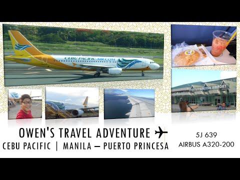 Cebu Pacific Air 5J 639 Manila to Puerto Princesa, Palawan
