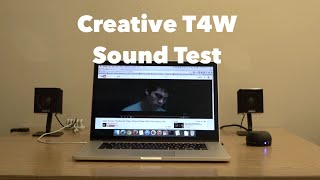 Creative T4W Computer Speaker Sound Test