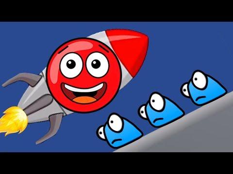Новый КРАСНЫЙ ШАР #4. 11-12 УРОВНИ. Мультик ИГРА New Red Ball 2