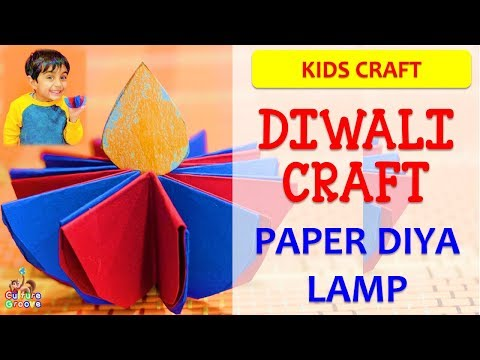 Diwali Craft for Kids - Make beautiful paper Diya