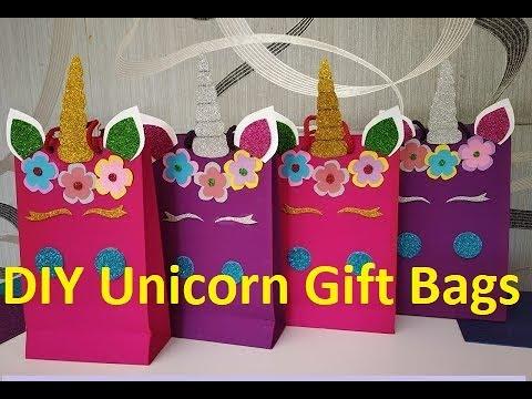 DIY I DIY Unicorn Gift Bags I How to Make Unicorn Gift Bag Tutorial