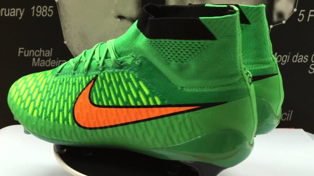 UK Cheap Football Boots- Nike Magista Obra FG Poison Green Total Orange  Black - YouTube 0a9327c9356c