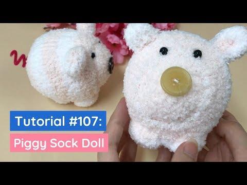 DIY Piggy Sock Doll Tutorial | The Idea King Tutorial #107